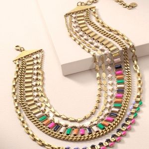 Francis Statement Necklace - 2 in 1